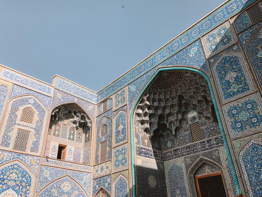 backpackin in iran, blauwe moskee
