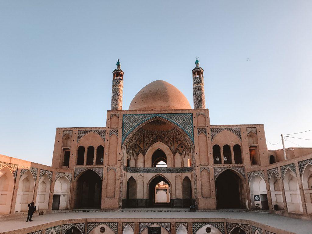 moskee in Kashan, Iran