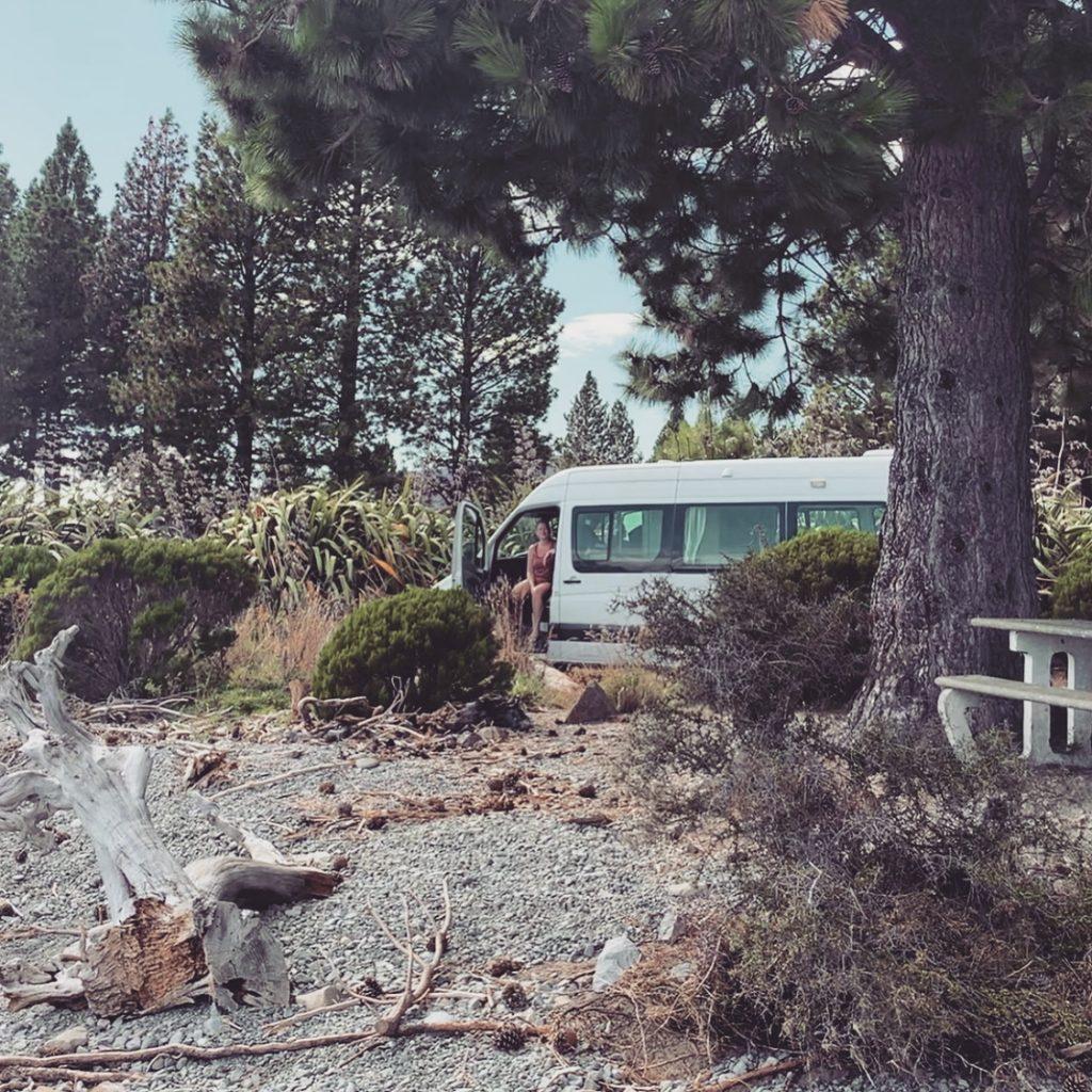 camper bij lake pukaki